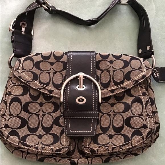 Coach Handbags - Coach signature logo shoulder bag
